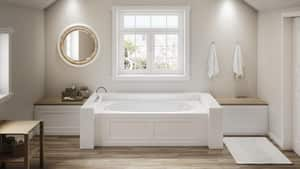 JACUZZI® Amiga® 72 x 36 in. Acrylic Rectangle Drop-In or Skirted Bathtub with Right Drain in White JAM27236BRXXXXW