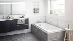 JACUZZI® Luxura® 60 x 32 in. Whirlpool Drop-In Bathtub with End Drain in White JLUX6032WLR2HX