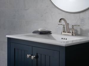 Delta Faucet Woodhurst™ Two Handle Centerset Bathroom Sink Faucet in Brilliance Stainless D2532LFSSTP