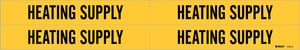 Brady Worldwide 1-1/8 x 7 in. Vinyl Heating Supply Pipe Marker in Black|Yellow B71274