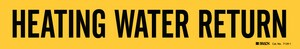Brady Worldwide Vinyl Heating Water Return Pipe Marker in Black|Yellow B71291