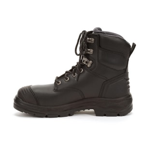 Honeywell 55 Series 10 MENS Size Leather Lace-up Electrical Hazard Steel Toe in Black H55334BLAC