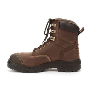 Honeywell 55 Series 10.5 MENS Size Leather Lace-up Electrical Hazard Steel Toe in Brown H55333BROW105