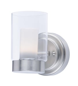 Maxim Lighting International Mod 8W 1-Light Integrated LED Wall Sconce in Satin Nickel M30261CLFTSN