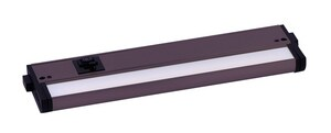 Maxim CounterMax 12 in. 5W 1-Light Integrated LED Under Cabinet Lighting in Bronze M89893BZ