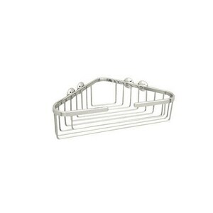 ROHL® Italian Country Bath 10-1/4 x 13-1/4 x 3-1/2 in. Corner Basket in Polished Nickel RBSK15PN