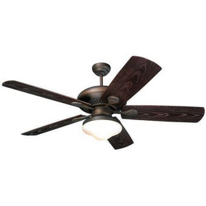 Monte Carlo Fan Company The Shores 5-Blade Ceiling Fan in RomanBronze M5SH54RBDL