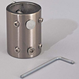 Minka-Aire Downrod Coupler in Brushed Nickel MDR500BN