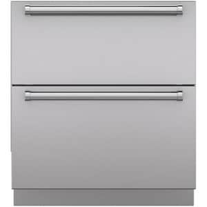 Sub Zero 30 in. 2-Panel Set Drawer with Pro Handle and Toe Kick in Stainless Steel S7025308