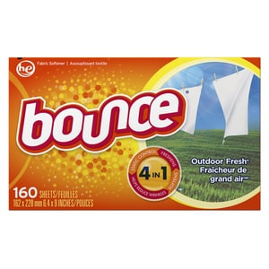 Procter & Gamble Company Bounce® 6-2/5 x 9 in. Fabric Softener (Box of 160) PGC80168BX