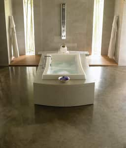 JACUZZI® Allusion® 72 x 42 in. 10-Jet Acrylic Rectangle Drop-In Spa Combination Bathtub with Center Drain and J5 LCD Control in White JALL7242CCR5CHW