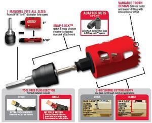 Diablo Tools Snap-Lock™ 3/8 x 5 in. Hole Saw 1 Piece DDHS5000
