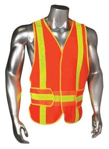 Radians Radwear™ M-XL Size Polyester Chevron Safety Vest in Hi-Viz Orange RHV6ANSICHVHGR at Pollardwater