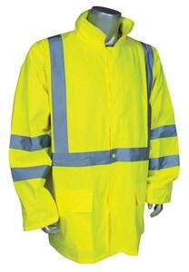 Radians Radwear™ Reflectivz™ XXXL Size Polyester Rain Jacket in Hi-Viz Green RRW103S1Y3X at Pollardwater