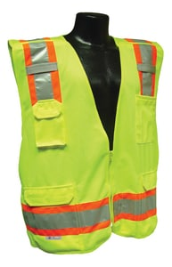 Radians Radwear™ L Size Polyester Safety Vest in Hi-Viz Green RSV46GL at Pollardwater