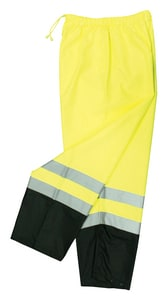 Radians Radwear™ M/L Size Polyester and Elastic Safety Pant in Hi-Viz Green RSP41EPGSML