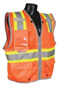 Radians Radwear™ L Size Polyester Reinforced Vest in Hi-Viz Orange RSV6HOL at Pollardwater