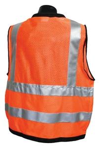 Radians Radwear™ M Size Polyester Grommet Safety Vest with Zipper Closure in Hi-Viz Orange RSV59Z2ZODM at Pollardwater