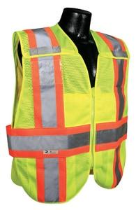Radians Radwear™ M/L Size Polyester Adjustable Safety Vest in Hi-Viz Green RSV242ZGMML at Pollardwater