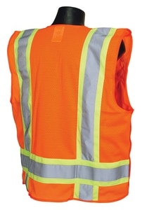 Radians Radwear™ L Size Polyester Safety Vest in Hi-Viz Orange RSV46OL at Pollardwater