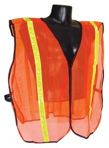 Radians Radwear™ S-XL Size Polyester Safety Vest in Hi-Viz Orange RSVO1SXL at Pollardwater