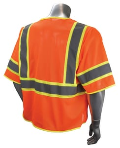 Radians Radwear™ L Size Polyester Surveyor Vest in Hi-Viz Orange RSV2723ZOML at Pollardwater
