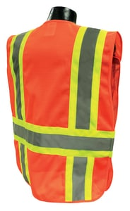 Radians Radwear™ M/L Size Polyester Adjustable Safety Vest in Hi-Viz Orange RSV242ZOMML at Pollardwater