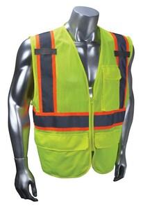 Radians Radwear™ L Size Polyester Surveyor Vest in Hi-Viz Green RSV2722ZGML at Pollardwater