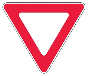 Accuform Signs 30 x 30 in. Engineer Grade Yield Sign in Red and White AFRR377RA at Pollardwater