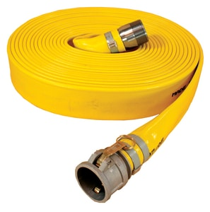 Abbott Rubber Co Inc Series 1166 50 ft. MNPSH x Female Quick Connect Extra Heavy Duty PVC Water Discharge Hose in Yellow A1166050CN at Pollardwater
