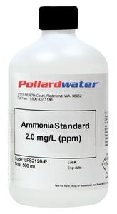 Aquaphoenix Scientific Incorporated 1 L 100 PPM Ammonia Standard Solution AAS1100Q at Pollardwater