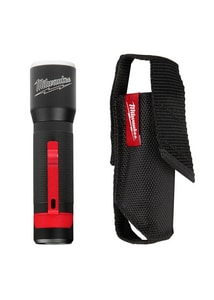 Milwaukee Trueview™ Hard Anodized Aluminum LED Redlithium™ 5-39/100 in. Flashlight with Holster M2107S