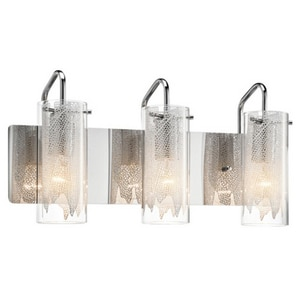 Elan Lighting Krysalis™ 60W 3-Light Medium E-26 Base Vanity Wall Light in Polished Chrome E83070