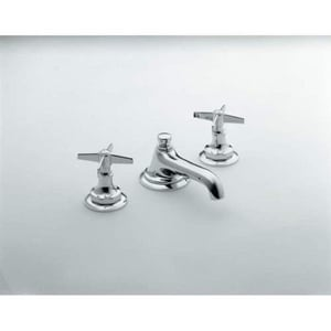 Kallista For Loft 3-Hole Deckmount Widespread Lavatory Faucet with Double Cross Handle in Polished Chrome KP23000CRCP