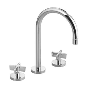 Kallista One Deckmount Bathroom Sink Faucet With Double Cross Handle In Polished Chrome P24490 Cr Cp Ferguson