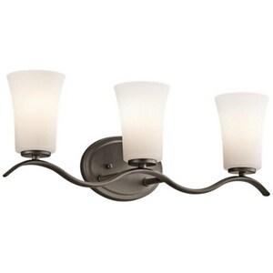 Kichler Lighting 100W 3-Light Medium E-26 LED Bath Light in Olde Bronze KK45376OZL16