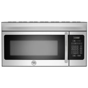 Bertazzoni Spa Professional Series 1.6 cf Over-the-Range Microwave in Stainless Steel with Black BKOTR30X