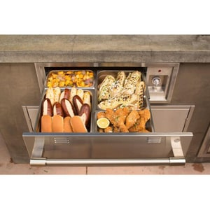 Alfresco Built-In Electric Warming Drawer in Stainless Steel AAXEWD30