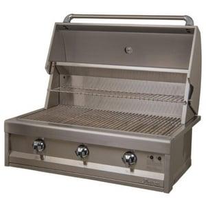 Alfresco Artisan 34-1/2 in. 3-Burner Built-In Natural Gas Grill in Stainless Steel AAAE36