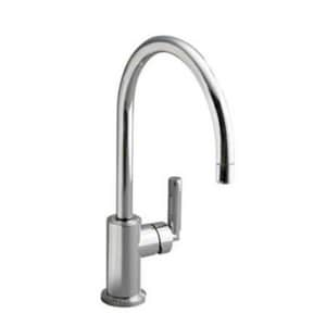 Kallista Vir Stil® 1-Hole Kitchen Sink Faucet with Single Lever Handle in Polished Chrome KP2307300CP