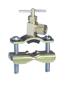 Supco 1/4 in. Hydronic Line Tap Valve Compression Brass SSTV2LL