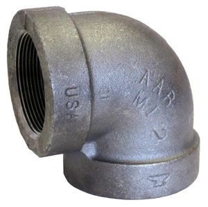 1-1/4 in. Threaded 300# Galvanized Malleable Iron 90 Degree Elbow G3009H