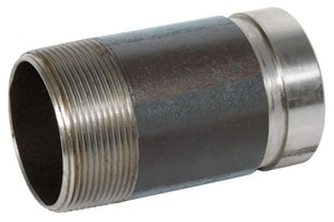 2-1/2 x 4 in. Grooved x Threaded Galvanized Nipple GGTNLP