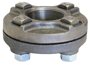 4 in. Flanged x NPS 125# Black Cast Iron Flange BCIFUP