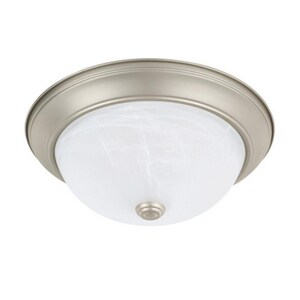 Capital Lighting Ceiling Collection 60W 2-Light Flushmount Ceiling Fixture in Matte Nickel C219022MN