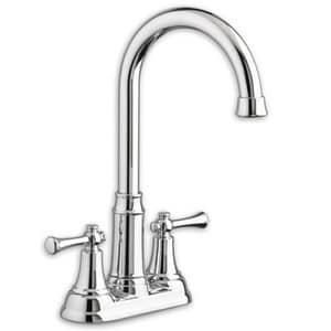 American Standard Portsmouth® 2-Hole 1.5 gpm Deckmount Bar Faucet with Double Lever Handle in Stainless Steel A4285420F15002