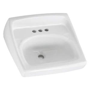American Standard Lucerne™ Wall Mount Bathroom Sink in White A0356915020