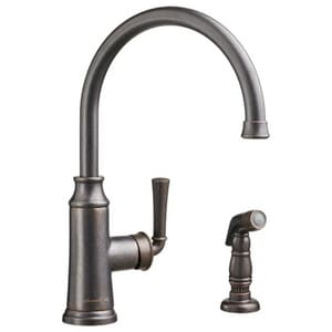 American Standard Portsmouth® Single Handle Kitchen Faucet in Oil Rubbed Bronze A4285051F15224
