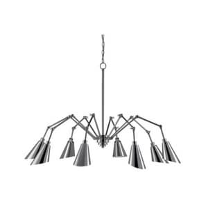 Currey and Company Garamond® 40W 8-Light Candelabra E-12 Base Incandescent Chandelier in Polished Chrome C90000002