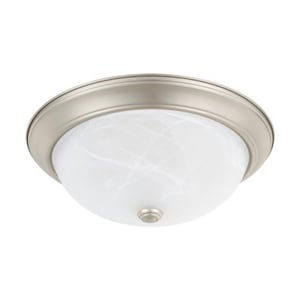 Capital Lighting Fixture Ceiling Collection 60W 2-Light Flushmount Ceiling Fixture in Matte Nickel C219031MN